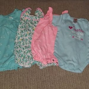 Infant Rompers - 4 PC Bundle - Size 3 months